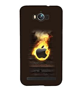 printtech Apple on Fire Back Case Cover for Asus Zenfone Max ZC550KL (2016)