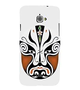 EPICCASE Beijing Opera Brown Mask Mobile Back Case Cover For InFocus M350 (Designer Case)
