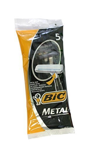 Bic Metal Quality Disposable Men's Shaving Razors, Best Single Blade, 5-count (Single Shaver Blades compare prices)