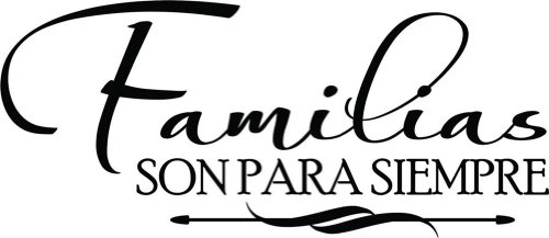 Design with Vinyl Design 294 Familias Sonpara - Vinyl Wall Decal, 12-Inch By 20-Inch, Black