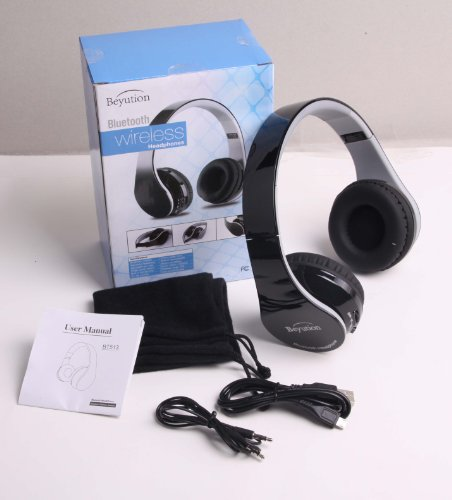 New Aec@Brand Black Color Smart Wireless Bluetooth Headphone---For All Tablet Mid, Smart Cell Phone And All Bluetooth Device