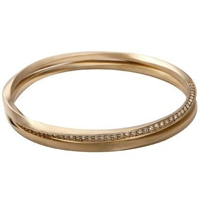 DKNY Gold Plated Twisted, Double Loop Bangle