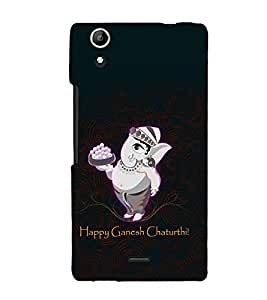 printtech Lord God Ganesha Chaturthi Back Case Cover for Micromax Canvas Selfie Lens Q345