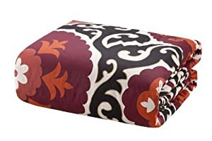 Natori Samarkand 300-Thread Count Cotton Sateen Print Queen Duvet, Multi