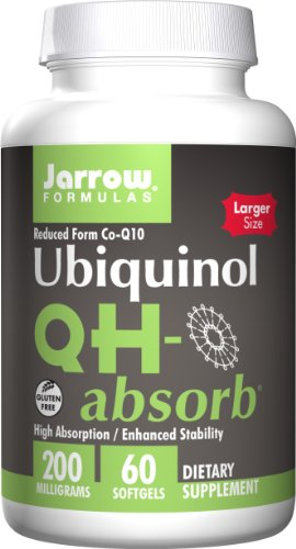Jarrow Formulas QH-Absorb, High Absorption/Enhanced Stability, 200 mg, 60 Softgels