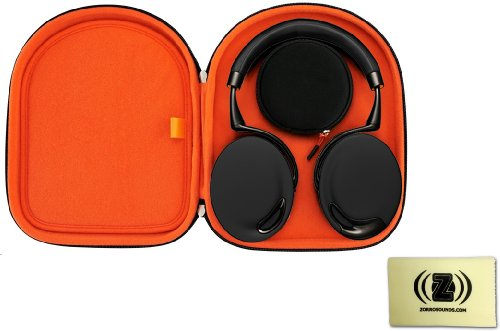 Parrot Zik Wireless Noise Cancelling Headphones With Touch Control (Black/Gold) Bundle With Parrot Zik Headphone Case And Custom Design Zorro Sounds Cleaning Cloth
