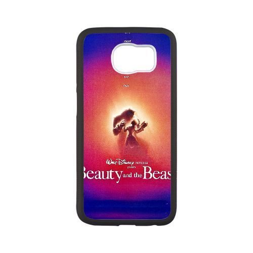Durable Phone Case Samsung Galaxy S6 Cell Phone Case White Kgept Beauty and the Beast Plastic Durable Cover