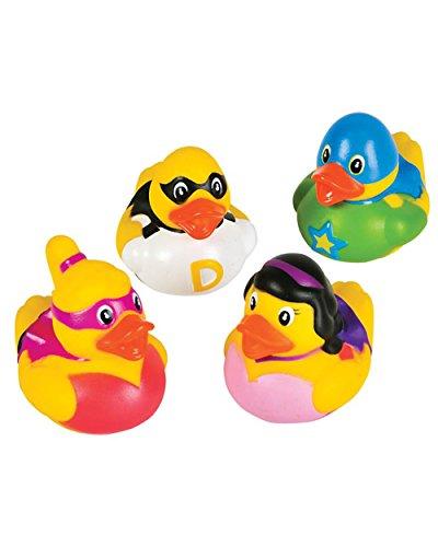 "Rhode Island Novelty 2"" Super Hero Rubber Ducks (12 Superhero Duckies) - 1"