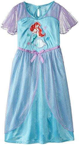 Disney Big Girls' Ariel Dressy Gown, Blue, Medium