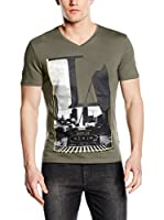 Guess Camiseta Manga Corta Private Illusi (Verde Militar)