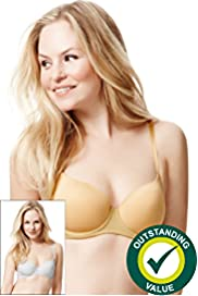 2 Pack Underwired T-Shirt Balcony A-DD Bras