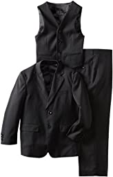 American Exchange Big Boys\' Solid Sport Suit, Midnight Black, 10