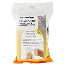 Medela Quick Clean Breastpump and Accessory Wipes, 24 Pack