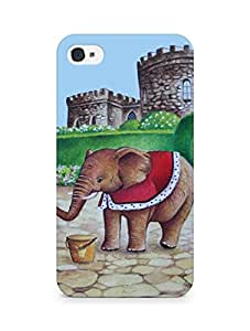 Amez designer printed 3d premium high quality back case cover for Apple iPhone 4 (Elephant prince)