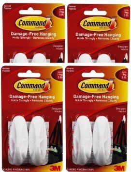 command-medium-designer-hooks-white-8-hooks-by-command