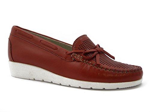 Mocassino Kelidon linea comfort, scarpa in pelle con suola gomma flessibile e antiscivolo, Estivo-9500