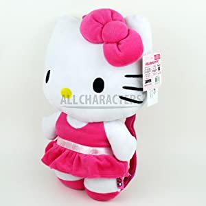 Hello Kitty Plush Pink Glitter Skirt Backpack by Sanrio from Hello Kitty