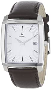 Bulova Men's 96B122 Silver Dial Strap Watch by Bulova