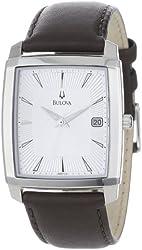 Bulova Men's 96B122 Silver Dial Strap Watch