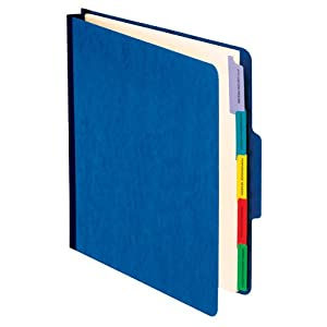 Pendaflex Vertical Personnel Folders, 1/3 Cut, Top Tab, Letter, Blue (SER-1-BL)