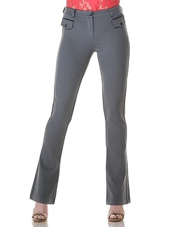 Eccentrica Pantalón Acampanado gris 42