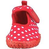 Playshoes Aquaschuhe, Badeschuhe Punkte mit höchstem UV-Schutz nach Standard 801 174776, Mädchen Aqua Schuhe, Rot (original 900), EU 24/25 -