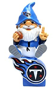 Tennessee Titans Forever Collectibles Gnome Sitting on Logo by Forever Collectibles