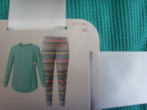 womens-pajamas-2-piece-set-long-sleeves-antigua-aqua