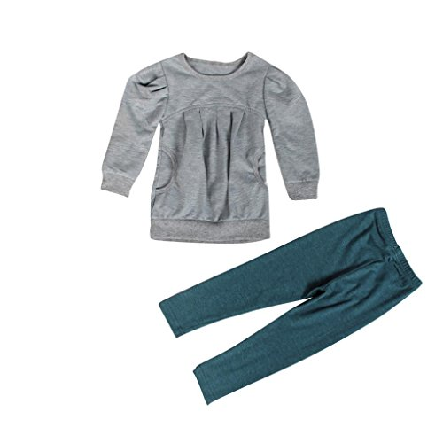 Elevin(TM)Toddler Kids Girls Autumn Warm Long Sleeve T-shirt +Long Pants Outfit (2T) (5t Girls Rain Jacket compare prices)