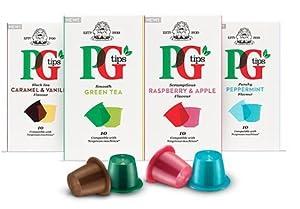 Choose PG Tips Nespresso Compatible Pods 4 Flavour Variety Pack 40 pods - Unilever UK