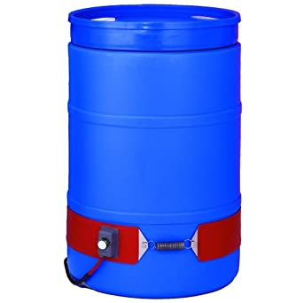 BriskHeat DPCH15 DPCH Extra Heavy Duty Poly Drum Heater, Fits 55-Gallon Poly Drums, 3-Layer Reinforced Silicone Rubber, W x L: 4 x 70-Inch, Diameter: 22.3-Inch, 120VAC