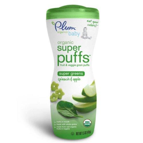 Plum Organics Super Puffs Super Greens Spinach & Apple (8X1.5Oz)