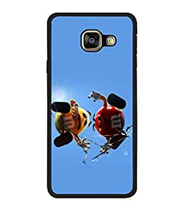 printtech M&M Candy Cartoon Back Case Cover for Samsung Galaxy A5 (2016) :: Samsung Galaxy A5 (2016) Duos with dual-SIM card slots