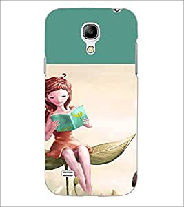PrintDhaba Reading Girl D-2657 Back Case Cover for SAMSUNG GALAXY S4 MINI (Multi-Coloured)