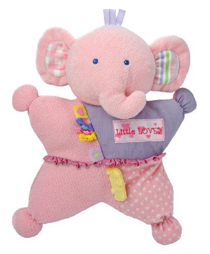 Kids Preferred Label Loveys Little Comfort Cuddly Tactile Toy, Lovey Elephant front-1039561