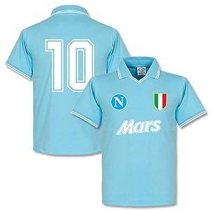 1980's Napoli Home Retro Number 10 Shirt - XXL