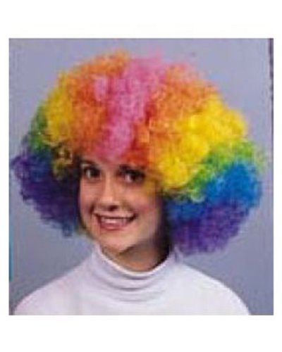 Clown Afro Wig (blue) Economy Adult Halloween Costume Accessory