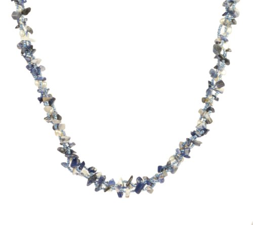 Colonial Blue Stone and Bead Necklace