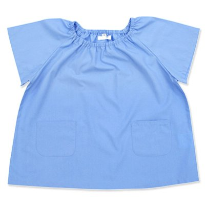 よつば洋品店オリジナル 半袖無地スモック (110 ブルー)