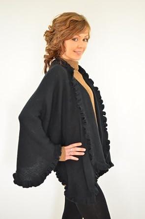 c147e384177c CAPE CHALE EN LAINE D  ALPAGA,POUR FEMMES.  Amazon.fr  cape ...