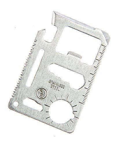 SE MT908 11-Function Stainless Steel Survival Pocket Tool, Blister Packaging