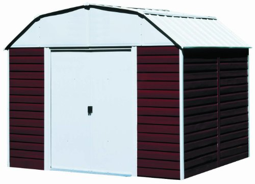 Lifetime sheds arrow rh1014 red barn 10 feet by 14 feet for Metal storage sheds for sale