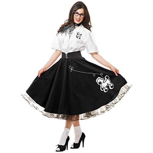 Complete 50's Poodle Outfit Adult Costume Black