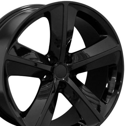 41yv1PLr96L Challenger SRT Style Wheels Fits Dodge   Black 20x9 Set of 4