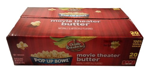 Orville Redenbacher'S Movie Theater Butter Pop Up Bowl 20 Bags 58Oz