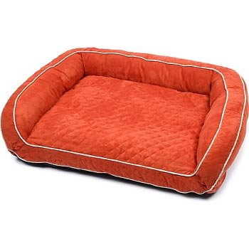 Petco Quilted Couch Dog Bed In Orange Best Buy Pet Supplies By Banks