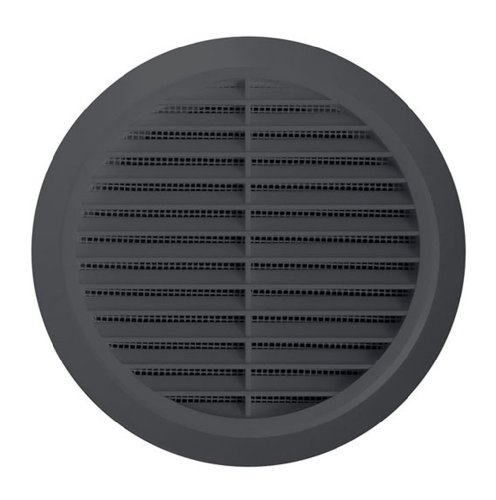 Circle Air Vent Grill Cover 100mm (4inch) Ducting Graphite(Grey)