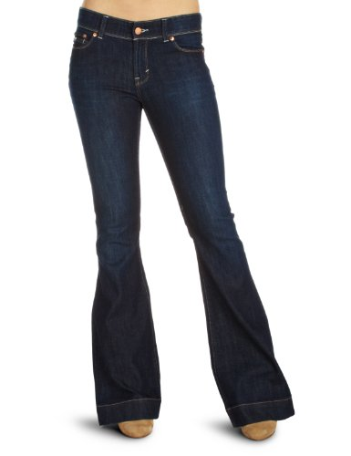 DKNY Low-Rise Flared 1 Women's Jeans Antique Wash W27 InxL32 In
