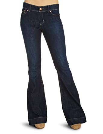 DKNY Low-Rise Flared 1 Women's Jeans Antique Wash W24 InxL32 In