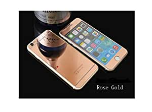 TechnoTrendZ Imported Premium Crystal Clear HD Coloured Electroplated Color- RoseGold Mirror Reflection Shock Resistant for Apple iPhone 6,6G,6S